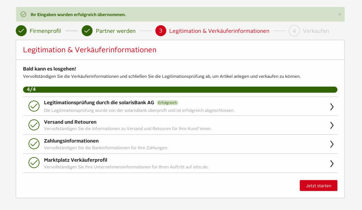 Screenshot Dashboard